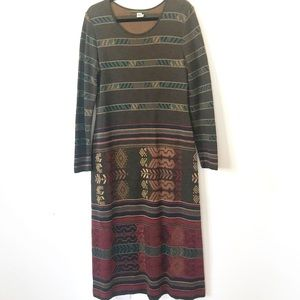 Peruvian Connection Maxi Dress L